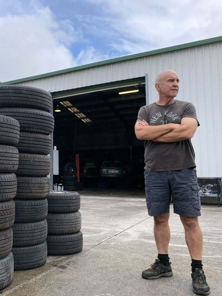 Chris Lett owner of Branigans Tyres with branches in Burleigh Heads and Southport branches in the Gold Coast.