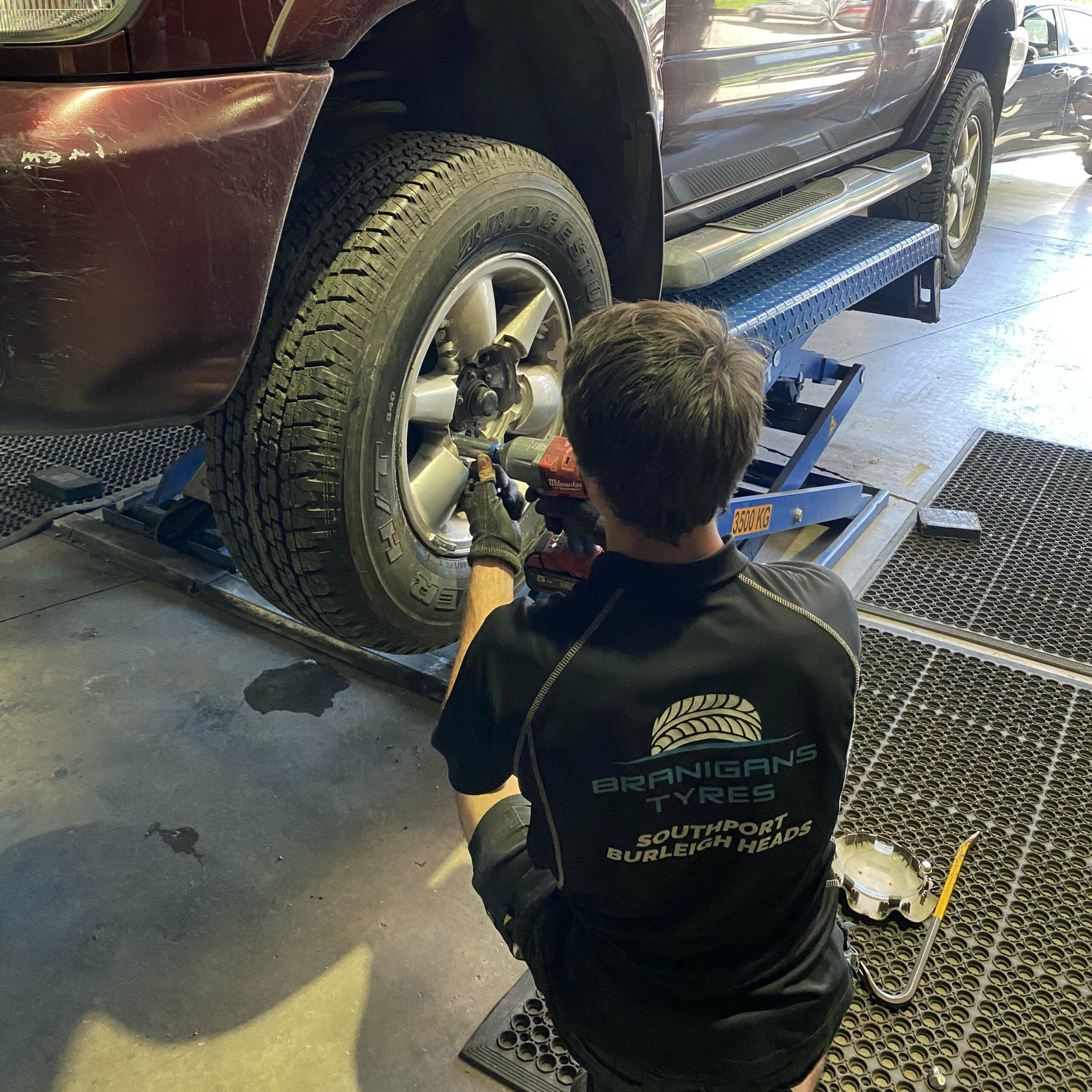 Wheel replaced at the Burleigh Heads branch in the Gold Coast