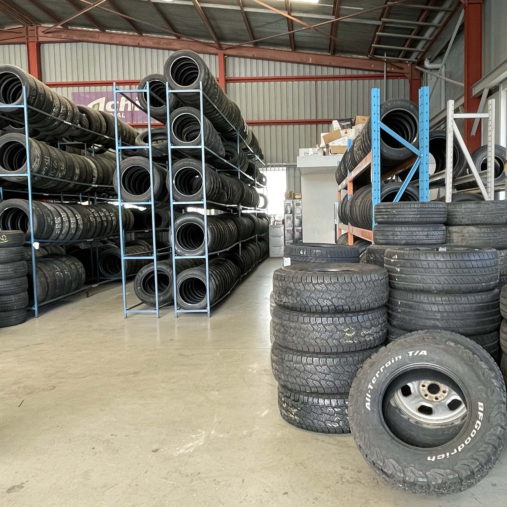 Branigans Southport branch stock of new and used tyres