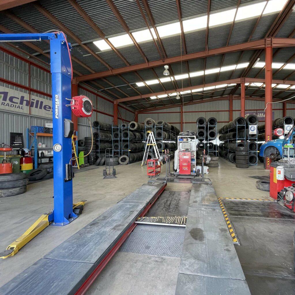 Branigan's Tyres Workshop.