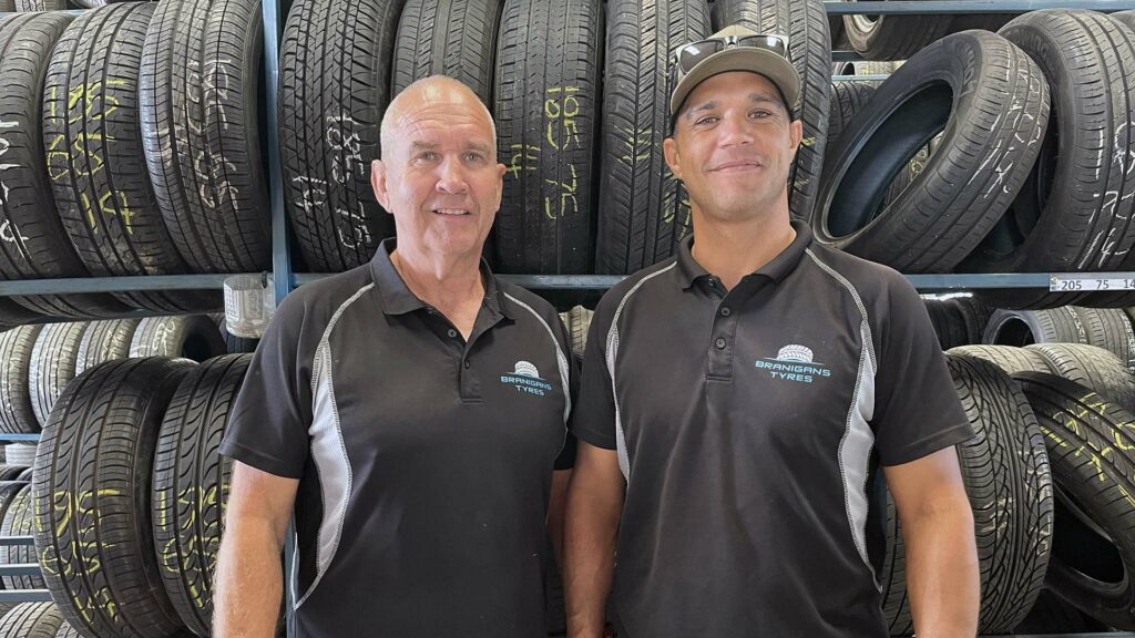 Chris Lett and Shane Lett of Branigans Tyres in the Gold Coast.