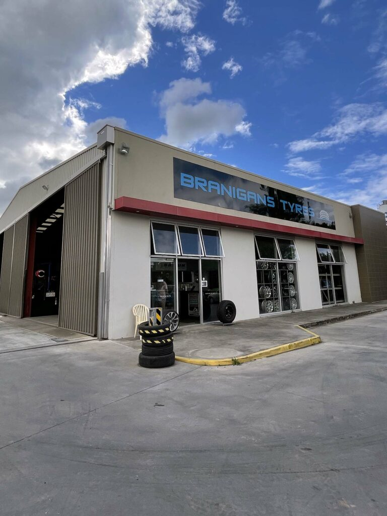 Branigans Southport Tyre Shop in the Gold Coast.